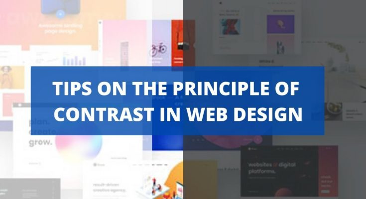 Tips on the Principle of Contrast in Web Design